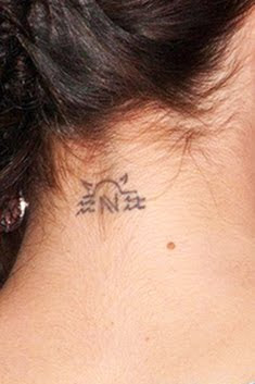nikki reed neck tattoo design