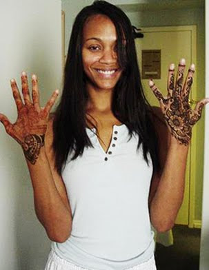 zoe saldana henna tattoo designs