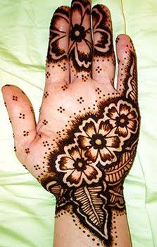 henna flower tattoo design images