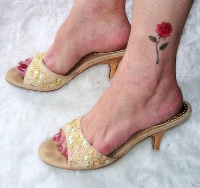 Foot rose tattoo and Australian blues hard rock band
