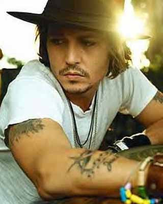 Johnny Depp tattoo style