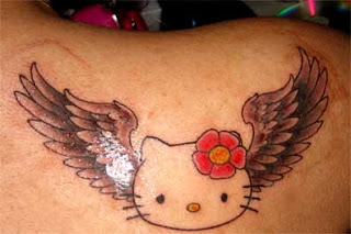 Hello kitty angel wing tattoo images