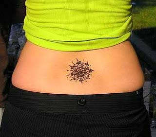 image of lower back tattoo