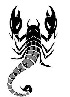 image of Egyption scorpion tattoo designs