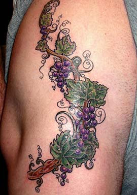 Grapevine Tattoo designs