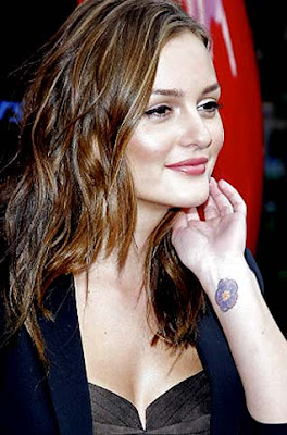 Celebrity Leighton meester wrist tattoo