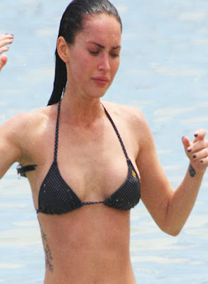 megan fox new rib tattoo