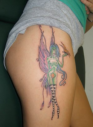 Fairy tattoo designs are very popular among the female section as they