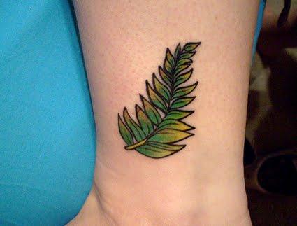 silver fern tattoo