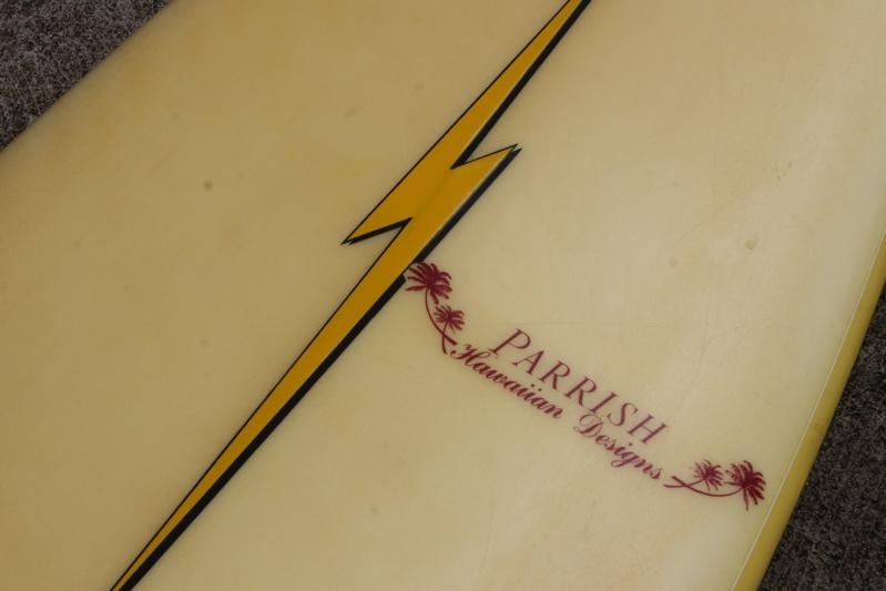 Shaper to da Stars Tom Parrish Hawaiian designs 7'2 lightning Bolt rounded