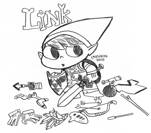 Mikelaughead Com Chibi Link From Zelda Sketch Coloring Page Of Legend Of Ocarina Of Time