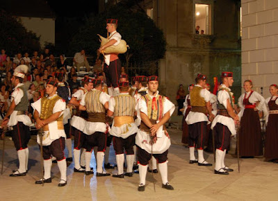 Croatian folk dancing