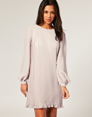 Long Sleeve Shift Dress on Asos Pleated Long Sleeve Shift Dress Jpg