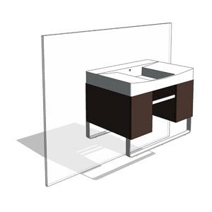Bathroom Sinks Revit revit components: free family :: kohler traverse vanity/sink