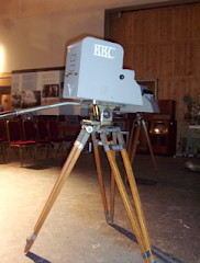 Early TV studio camera in BBC Studio A