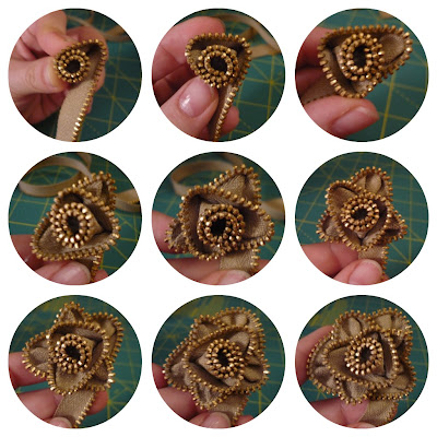 Picnik+collage How To Make Zipper Rose