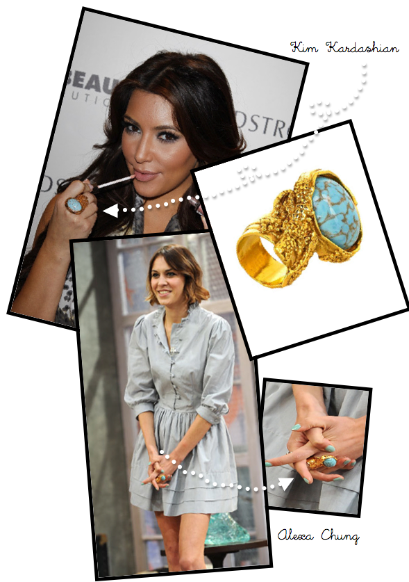 Alexa Chung YSL Artsy Ring