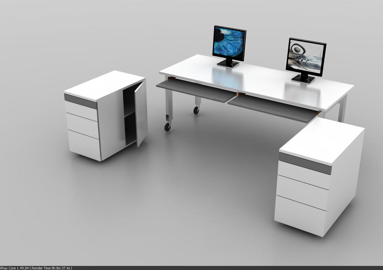 Dos por cuatro estudio dise o industrial escritorio - Escritorios en blanco ...
