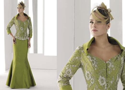 Vestidos de fiesta de color verde
