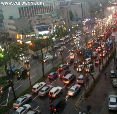 Atasco de tráfico en Seúl