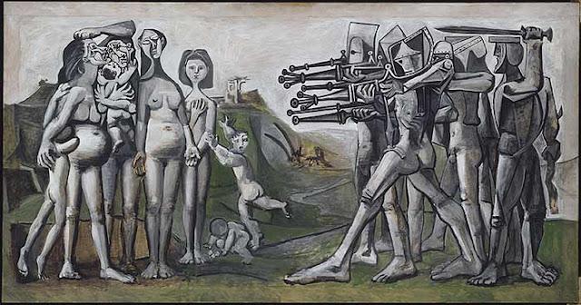 Cuadro de Picasso titulado Masacre en Corea sobre la Guerra de Corea