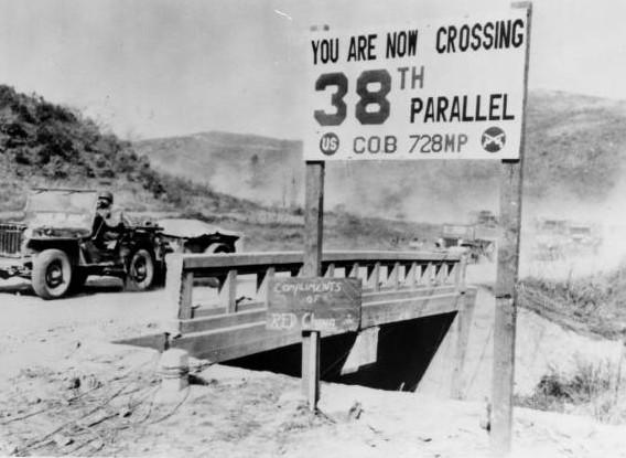 Fotografía del paralelo 38 en la Guerra de Corea