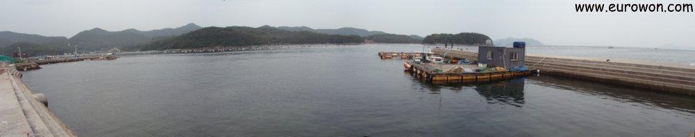 Bahía de Masan en el sur de Corea del Sur