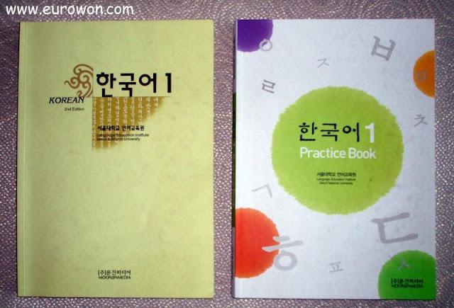 Libros del nivel 1 de coreano en la Universidad Nacional de Seúl SNU