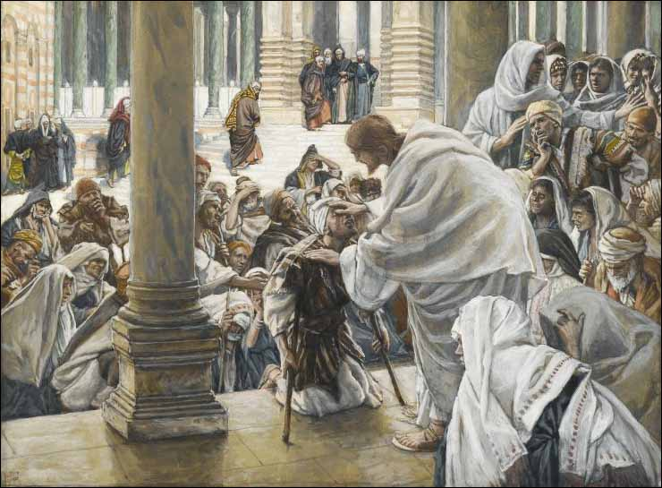 tissot-he-heals-the-lame-in-the-temple-740x545 - Jesus Heals The Crippled Man - Bible Study