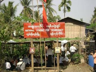 >NLD repoened office in KunChanKone, in Nargis-Hit Delta