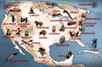 Maps Us Map Of Native American Tribes - Indian tribe map us