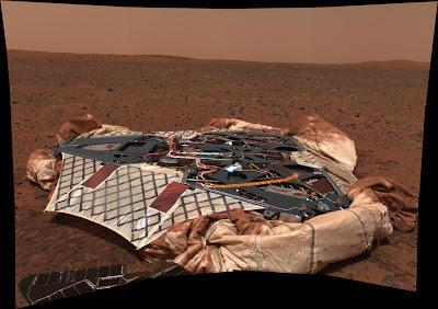 Spirit Lander sobre la superficie de Marte