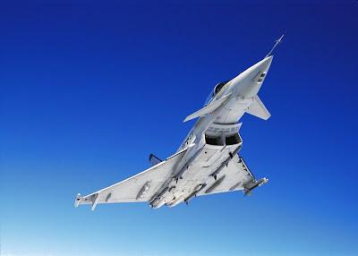 Eurofighter Typhoon, con su diseño en delta y canard