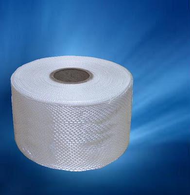 Rollo de tejido de fibra de vidrio