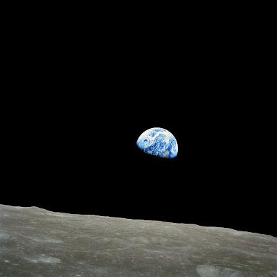 La Tierra desde la Luna, imagen tomada desde el Apollo 8 en 1968 (NASA)