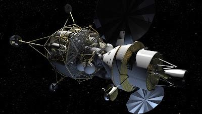 La Orion y el Altair acoplados, representación artística (NASA)