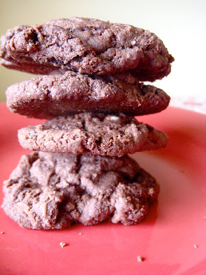 Carly's Kitchen: Kathleen Kings Double Chocolate Almond Cookies