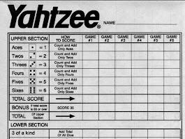 Free Printable Power Yahtzee Score Sheets