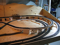 Completed track right half of layout