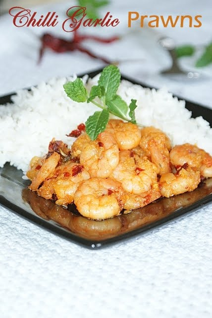 Shabs Cuisine Chilli Garlic Prawns - Cuisines smith