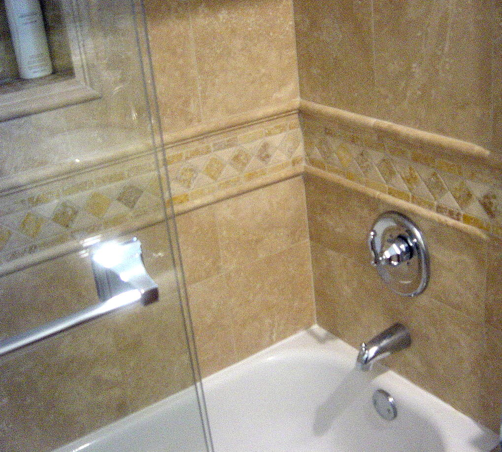 Genc stone inc travertine tile for Bathroom travertine tile designs