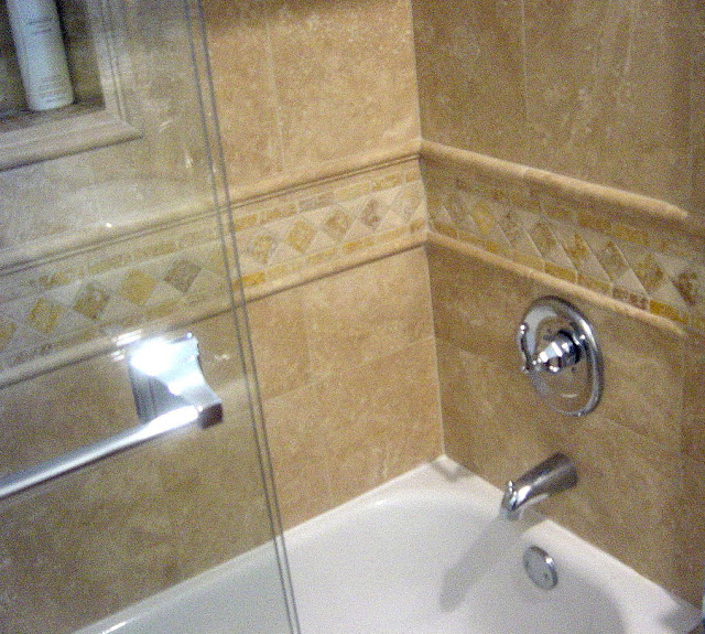 Genc stone inc travertine tile for Travertine tile in bathroom ideas