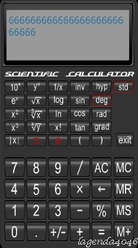برنامج Scientific Calculator 1.0 اَلة حاسبة علمية مميزة لجوالات S60v5 & S^3