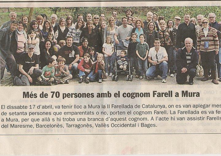 "Foto de la Farellada de Mura publicada al ""Diari de Sabadell"""