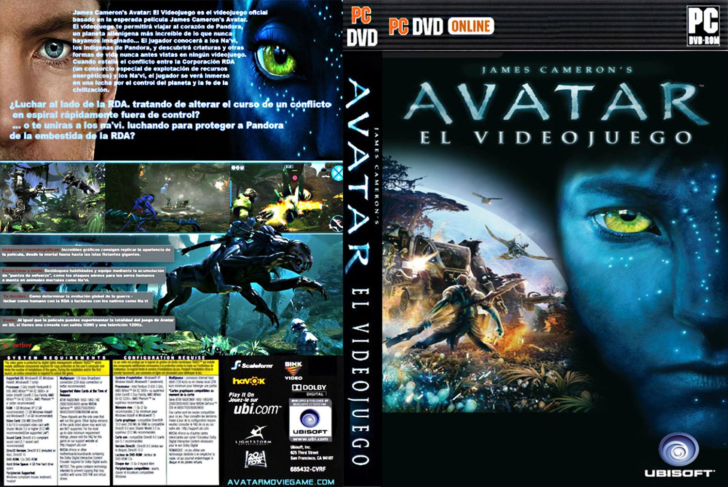 Avatar - James Cameron - Juego PC