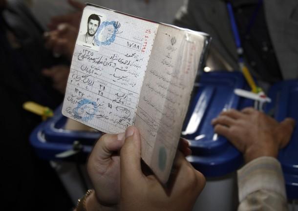 [Iranian+election+official+holds+passport+President+presidential+candidate+Iranian+election+Mahmoud+Ahmadinejad+before+cast+ballot+Iranian+presidential+electionsTehran+June+12,+2009.jpg]
