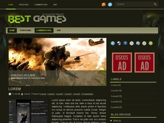 Best Game Blogger Template