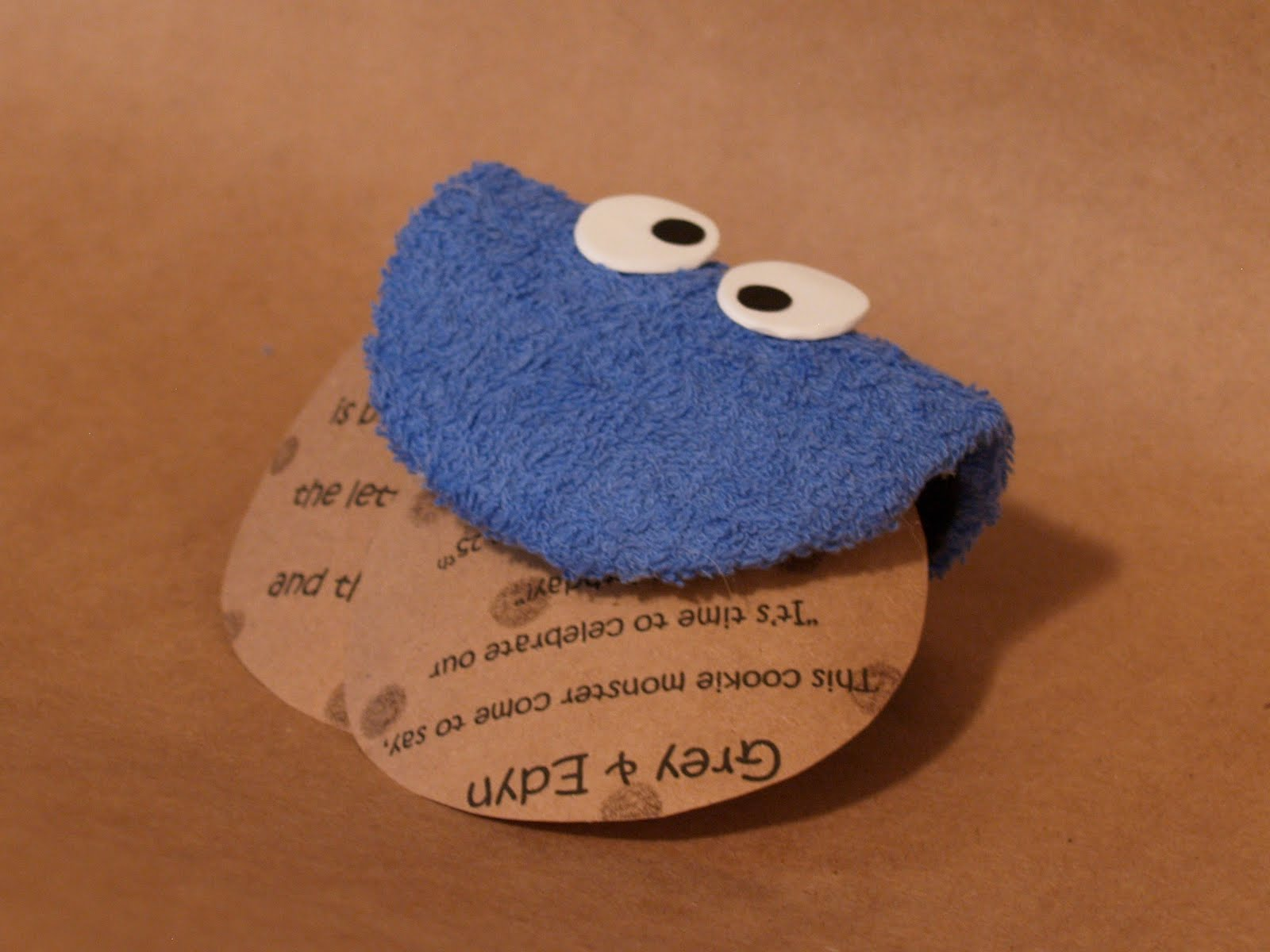 Terrycloth Cookie Monster Invitations