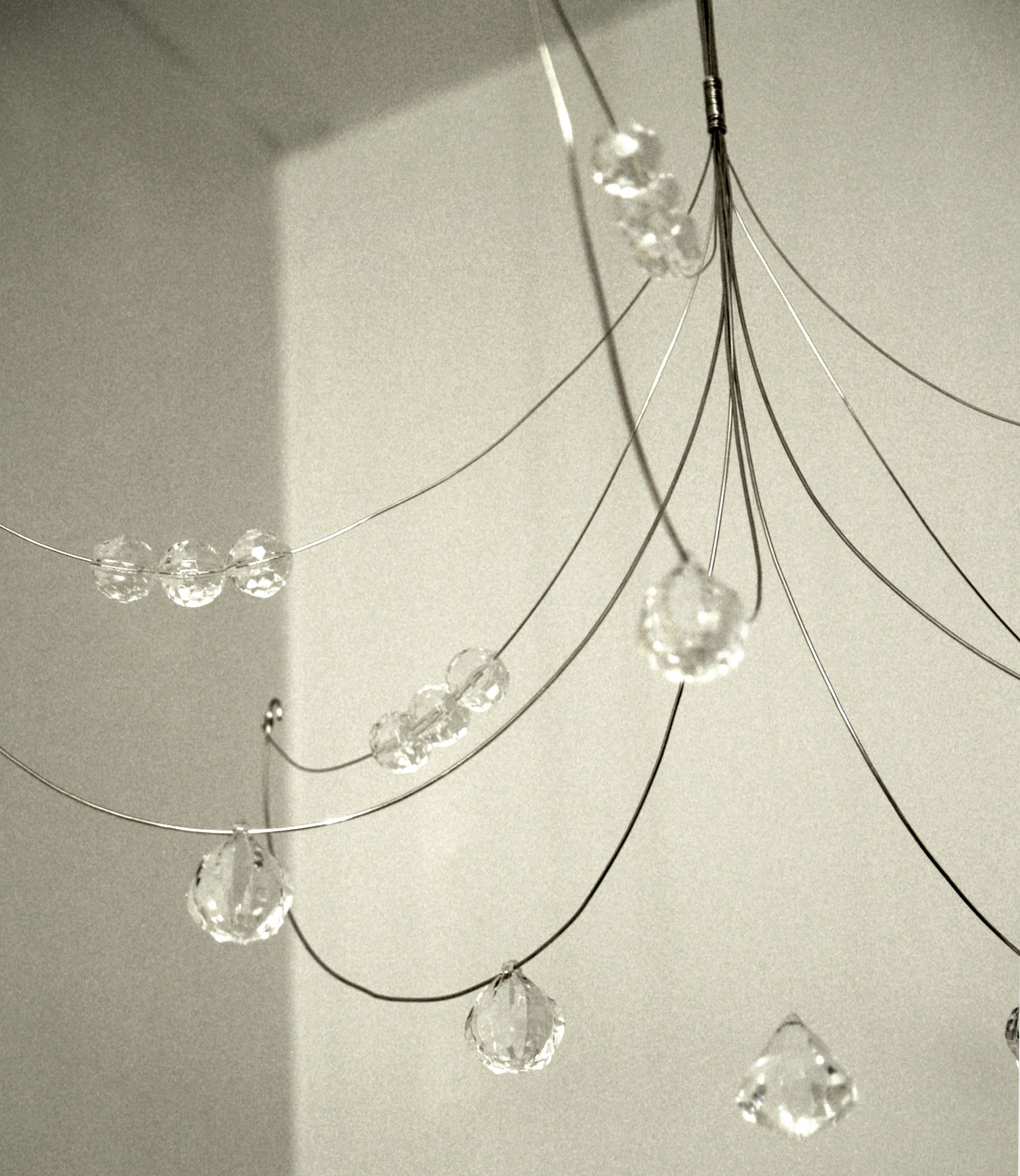 DIY Wire And Crystal Chandelier - Chandelier crystals diy