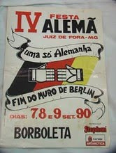 CARTAZ DA FESTA ALEMÃ DE 1990